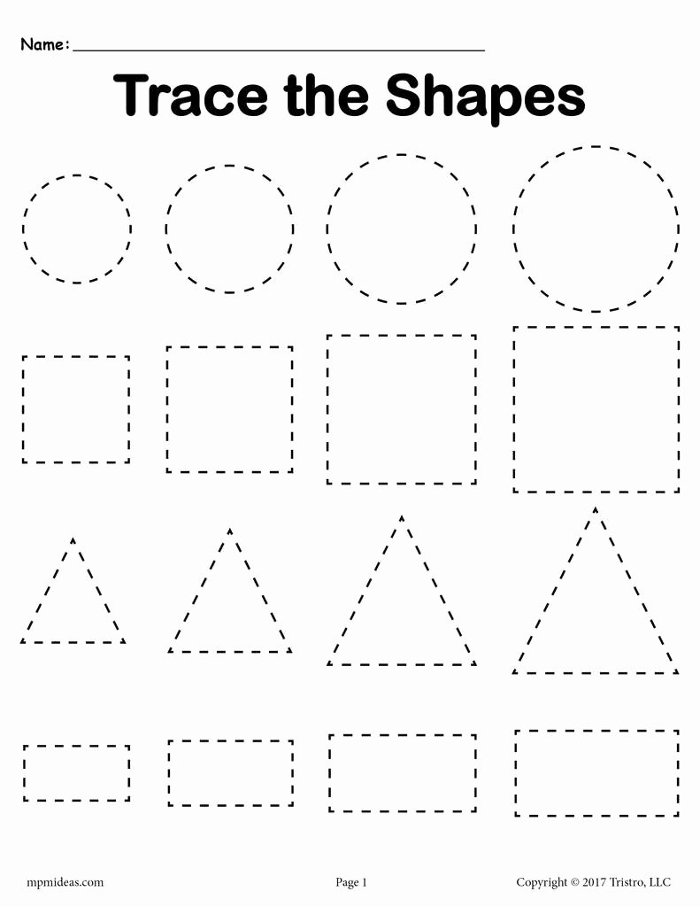 Free Shape Tracing Worksheets for Preschoolers Ideas Worksheet Trace Worksheets Inspirations Worksheet