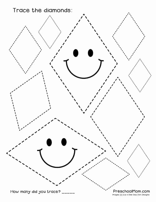 Free Shape Tracing Worksheets for Preschoolers Lovely Shape Tracing Worksheets Preschool Mom