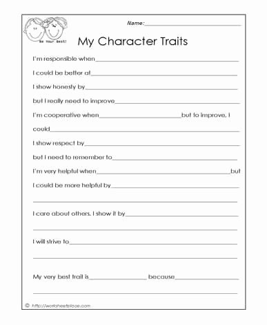 Free social Skills Worksheets for Preschoolers Inspirational My Character Traits social Skills Worksheets