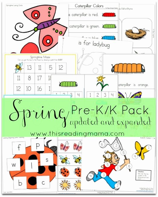 Free Spring Worksheets for Preschoolers Inspirational Free Spring Pre K K Pack Updated and Expanded