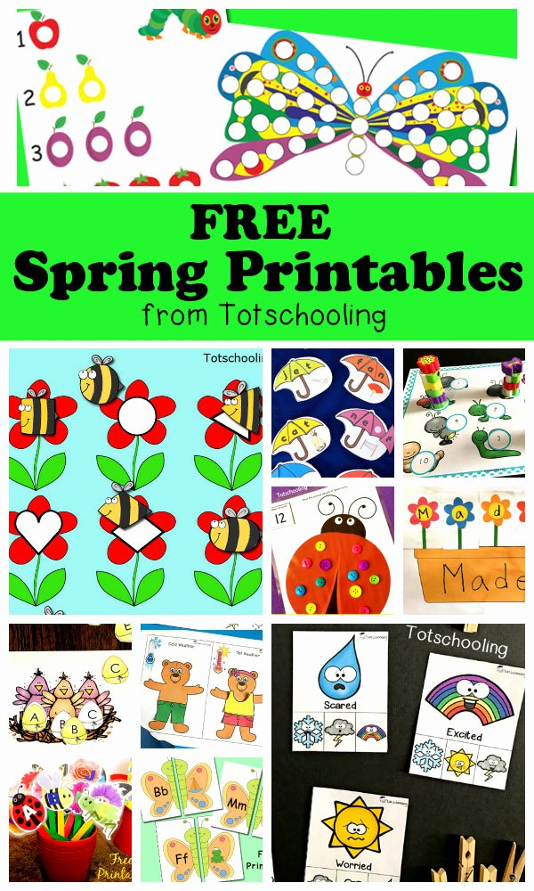 Free Spring Worksheets for Preschoolers Printable Free Spring Printables for Kids