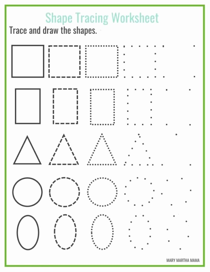 Free Tracing Shapes Worksheets for Preschoolers Lovely Shapes Worksheets for Preschool Free Printables Shape