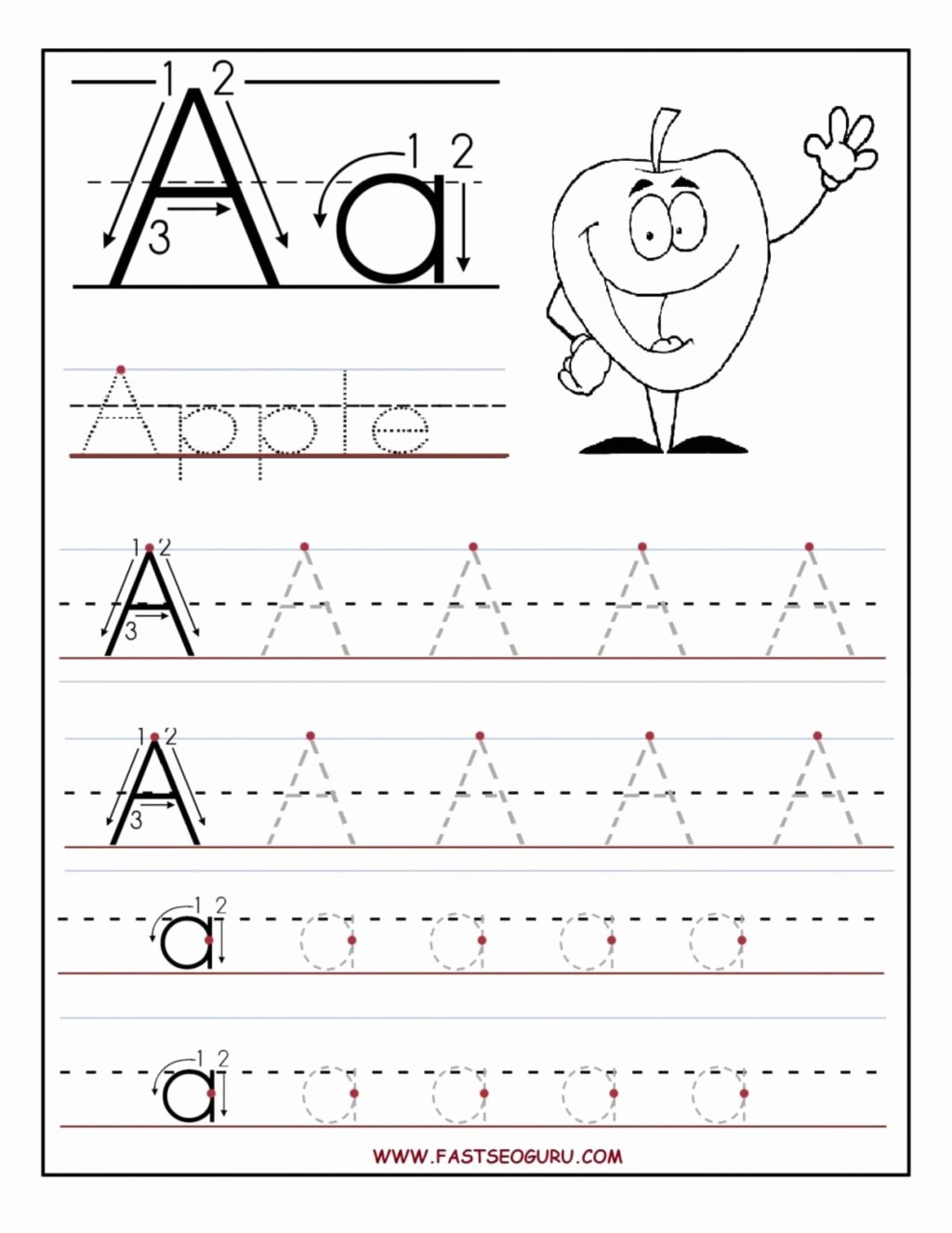 Free Tracing Worksheets for Preschoolers Letters Kids Worksheet Worksheet Trace Letters Tracing Worksheets for