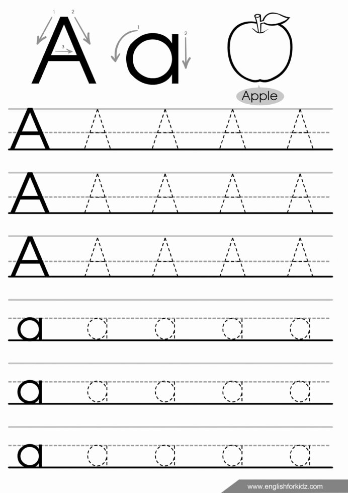 Free Tracing Worksheets for Preschoolers Letters top Letter Tracing Worksheets Letters English Worksheet Free