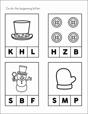 Free Winter Worksheets for Preschoolers Kids Free Snowman Worksheets for Preschool and Kindergarten Students
