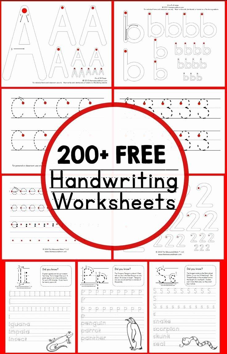 Free Worksheets for Preschoolers Handwriting Fresh Teaching Handwriting