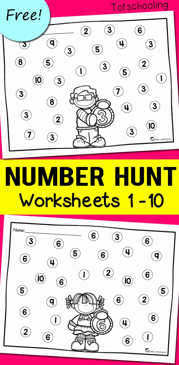 Free Worksheets for Preschoolers Numbers Free Number Recognition Worksheets