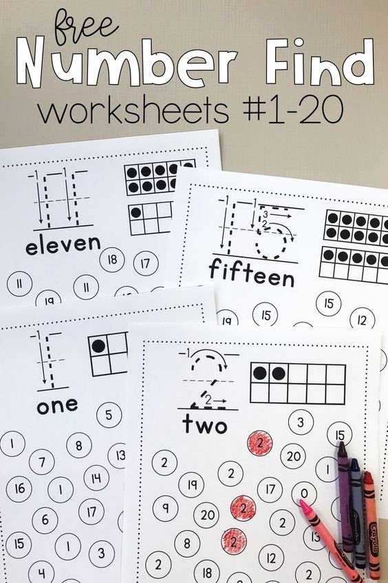 Free Worksheets for Preschoolers Numbers top Free Printable Number Find Worksheets Homeschool Giveaways