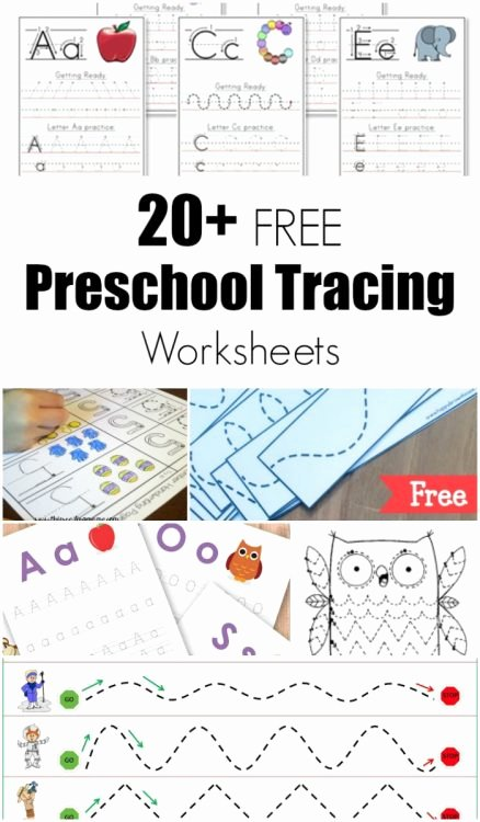 Free Worksheets for Preschoolers Trace Best Of Worksheet 51 Preschool Tracing Worksheet