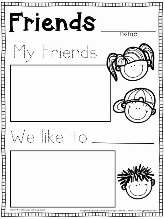 Friendship Worksheets for Preschoolers Inspirational Back to School Activities Kindergarten