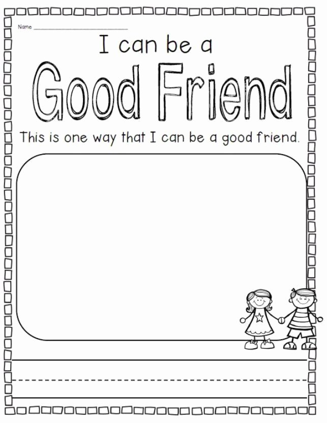 Friendship Worksheets for Preschoolers Lovely What Does It Take to Be A Good Friend A Be A Good Friend