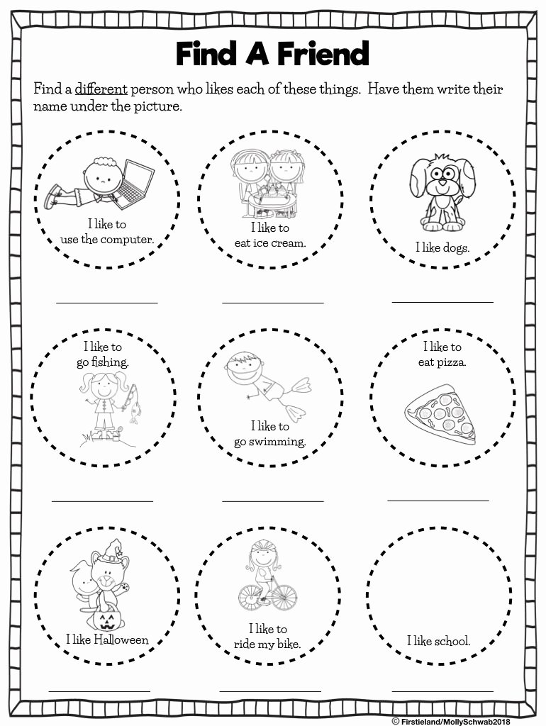 Friendship Worksheets for Preschoolers New First Grade Blog Firstieland Friendship Activities for