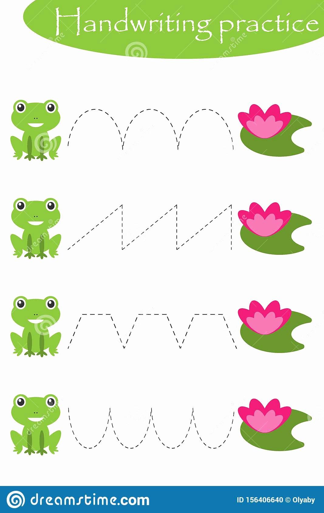 Frog Worksheets for Preschoolers Ideas Frogs and Water Lilies Handwriting Practice Sheet Kids