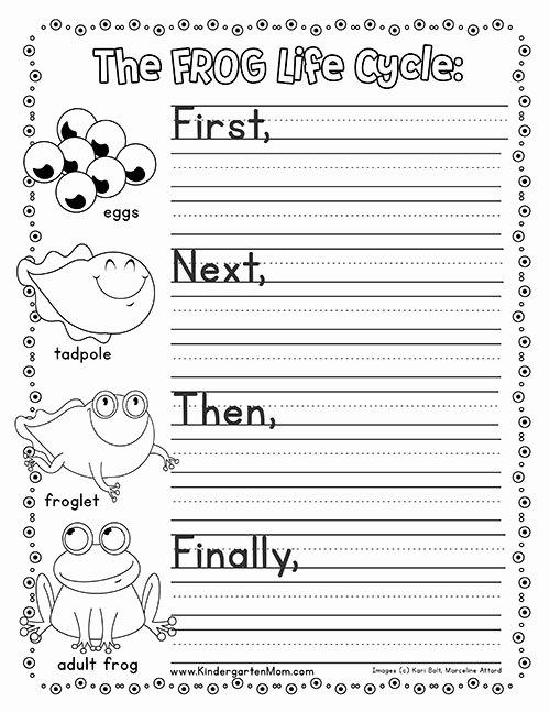 Frog Worksheets for Preschoolers Kids Frog Life Cycle Printables Kindergarten Mom