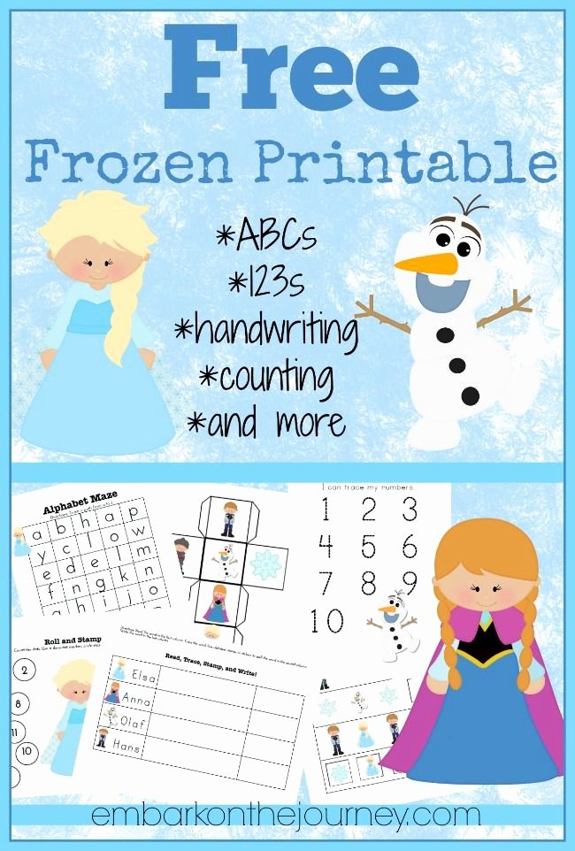 Frozen Worksheets for Preschoolers Fresh Free Frozen Lesson Pack the Relaxed Homeschool