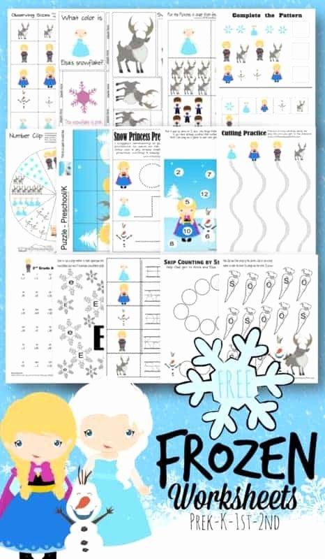 Frozen Worksheets for Preschoolers Ideas Free Frozen Worksheets for Kids