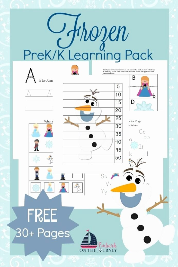 Frozen Worksheets for Preschoolers Kids Free Frozen Printable Activities Preschool Learning