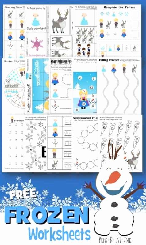 Frozen Worksheets for Preschoolers Lovely Free Frozen Worksheets for Kids