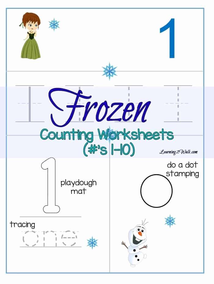Frozen Worksheets for Preschoolers top Counting Frozen Worksheets