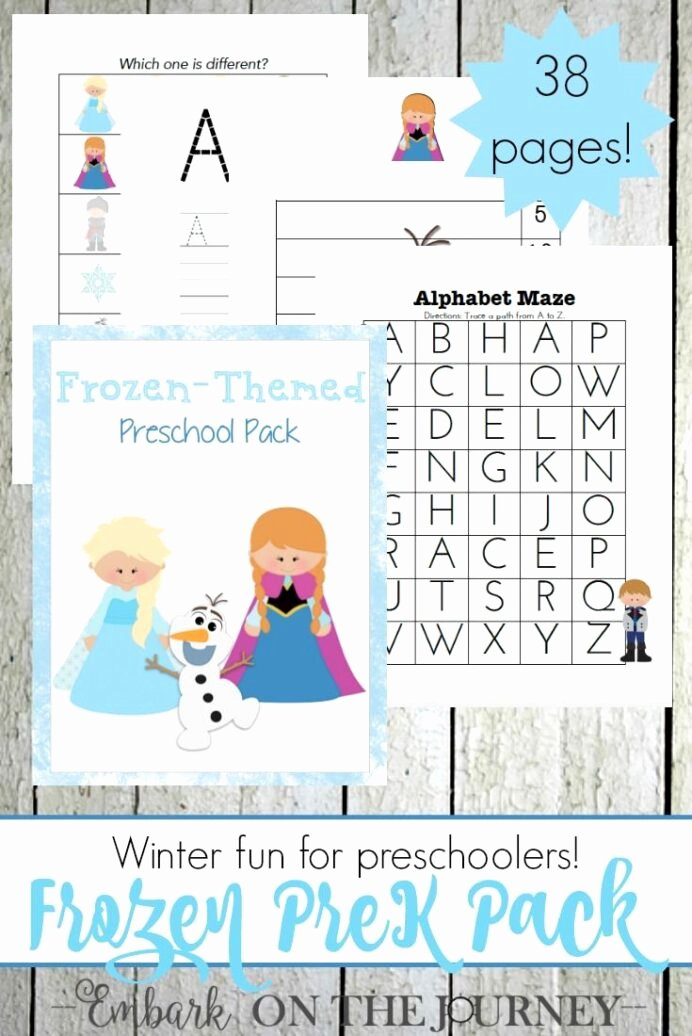 Frozen Worksheets for Preschoolers top Disney Frozen Inspired Free Printable Activity Pack for Kids