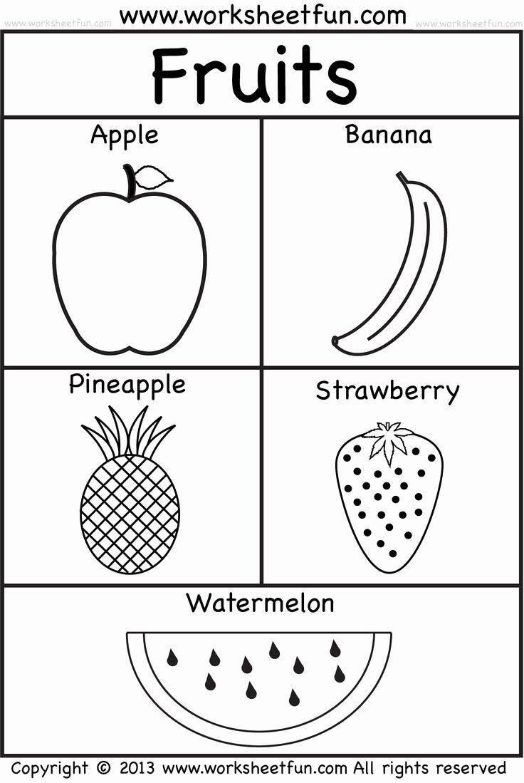 Fruits Worksheets for Preschoolers Ideas Fruits