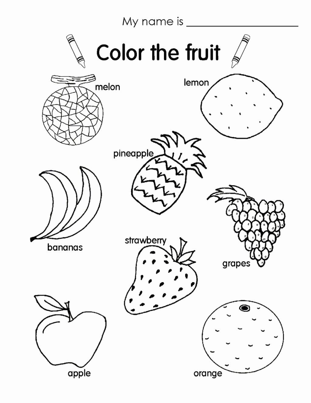 Fruits Worksheets for Preschoolers Printable Worksheet Funorksheets for Kids Picture Ideasorksheet