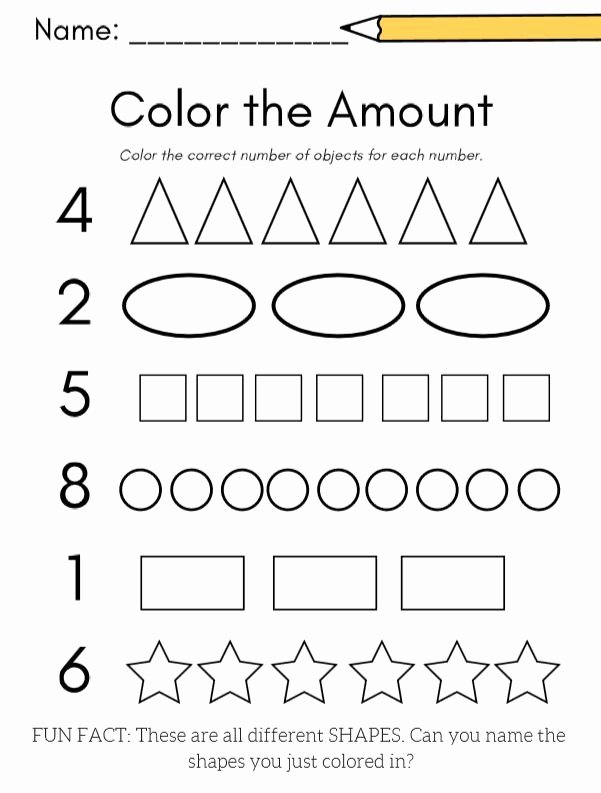 Fun Worksheets for Preschoolers Best Of Kindergarten Math Numbers 1 10 Planning Playtime In 2020
