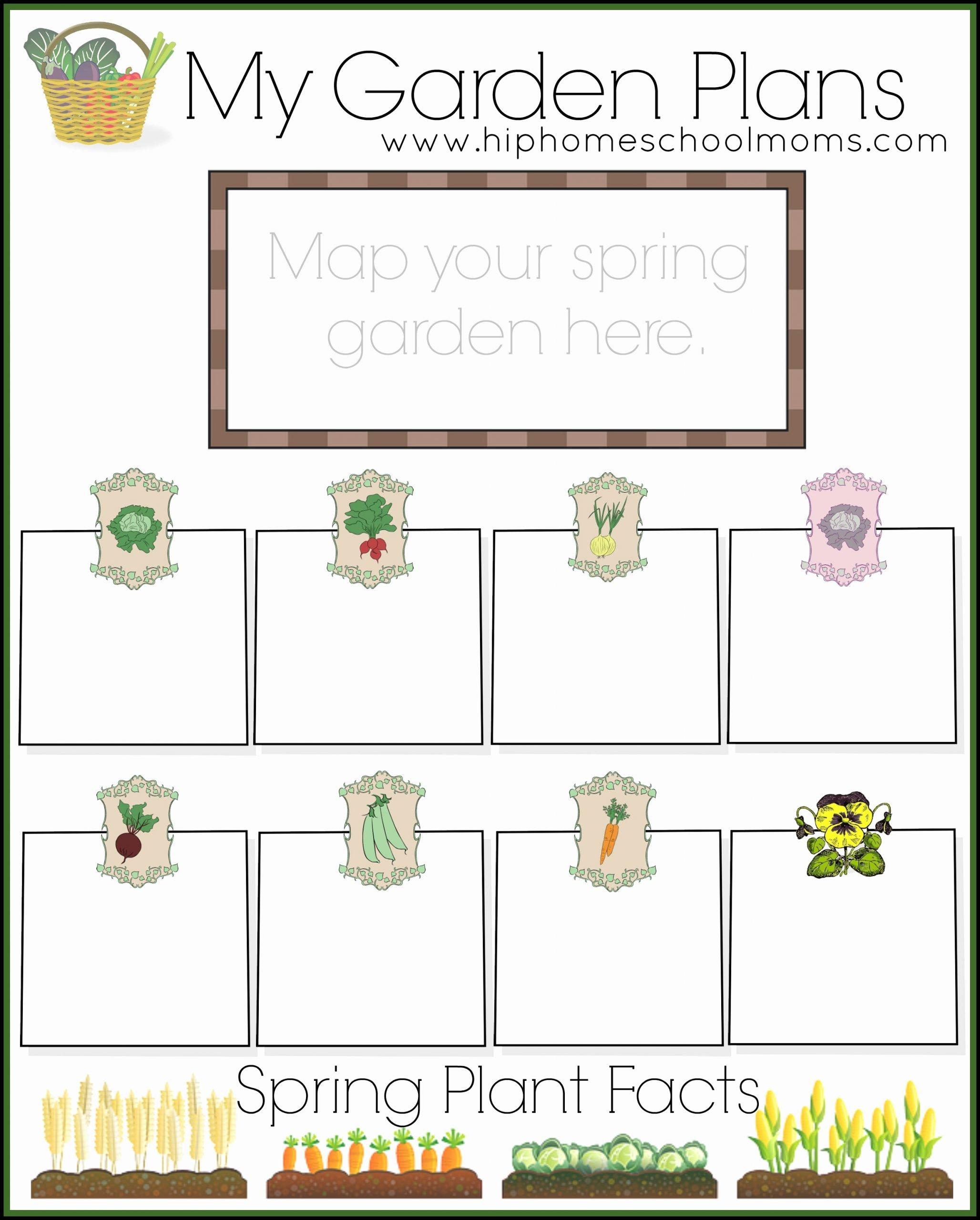 Gardening Worksheets for Preschoolers Kids Free Garden Planner for Kids