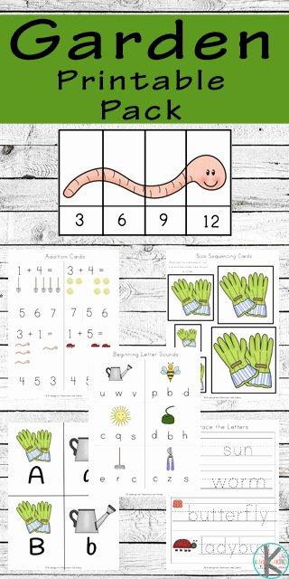Gardening Worksheets for Preschoolers Printable Free Garden Worksheets for Kindergarten
