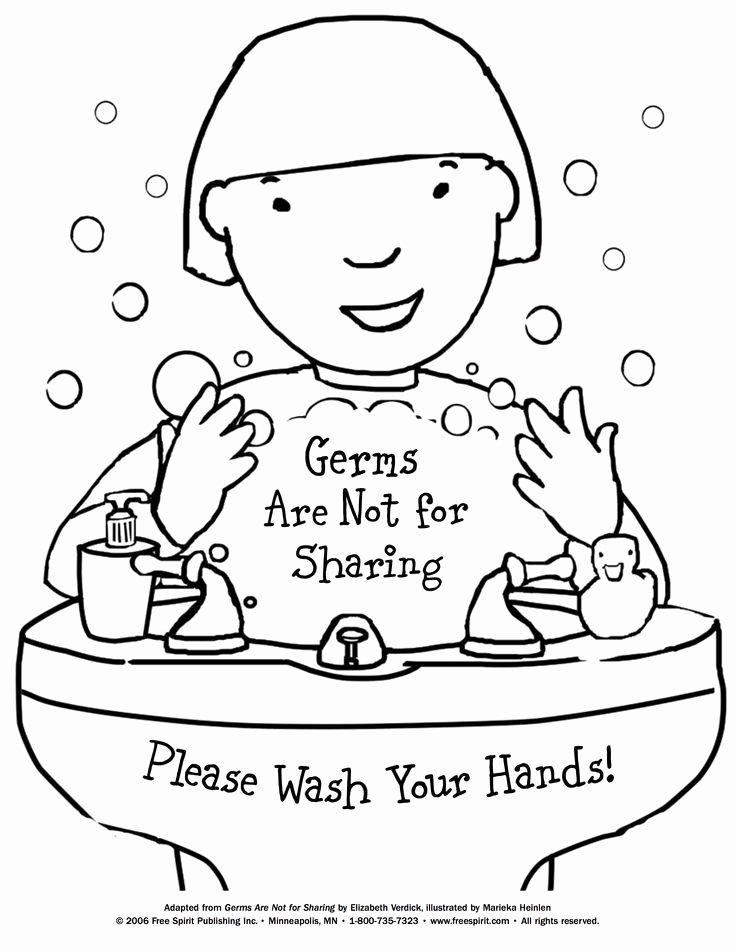 Germ Worksheets for Preschoolers Best Of Free Printable Coloring to Teach Kids About Hygiene Germs