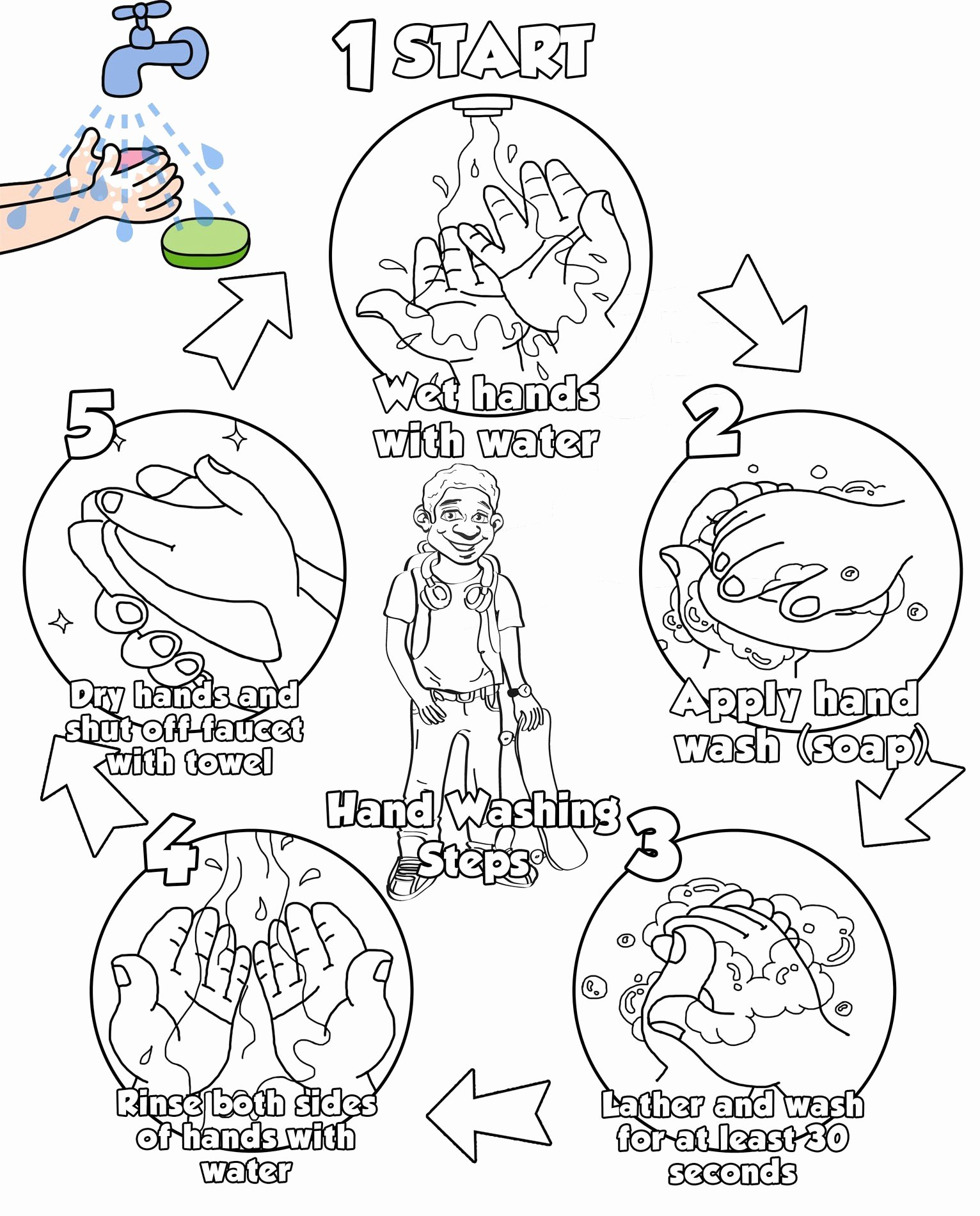 Germ Worksheets for Preschoolers Printable Kindergarten Worksheet Health Germs Printable Worksheets
