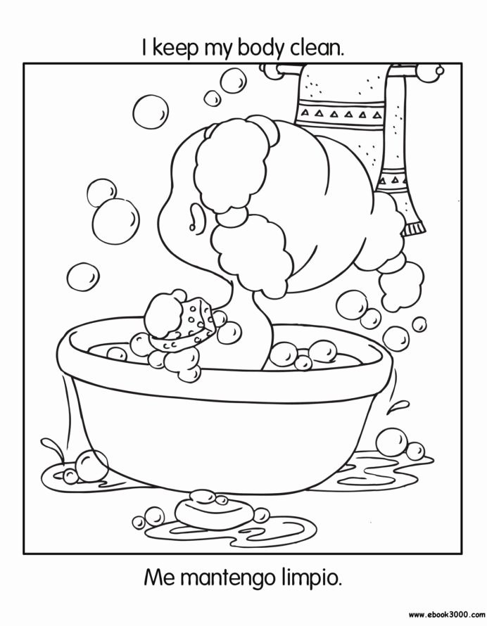 Good Habits Worksheets for Preschoolers Best Of Free Printable Coloring to Teach Kids About Hygiene Germs