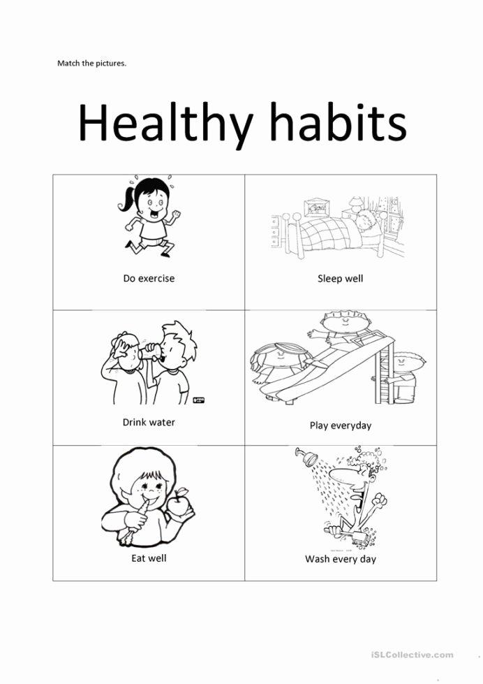 Good Habits Worksheets for Preschoolers Best Of Healthy Habits English Esl Worksheets for Distance Learning
