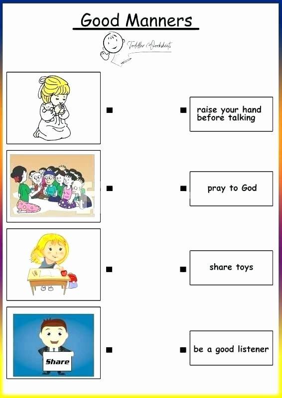 Good Habits Worksheets for Preschoolers Fresh Yellow Worksheets for Preschool Teaching Manners Worksheets