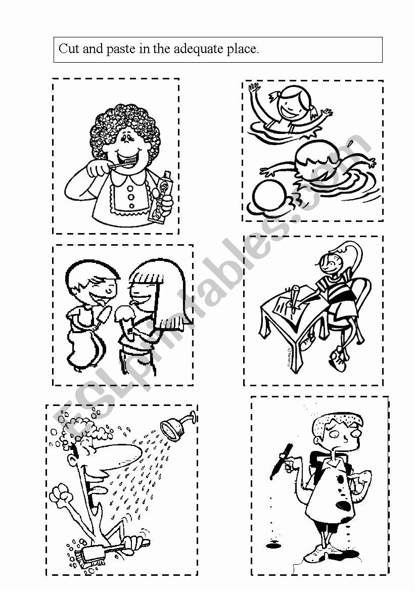 Good Habits Worksheets for Preschoolers Lovely Healthy Habits Esl Worksheet by Mariakris