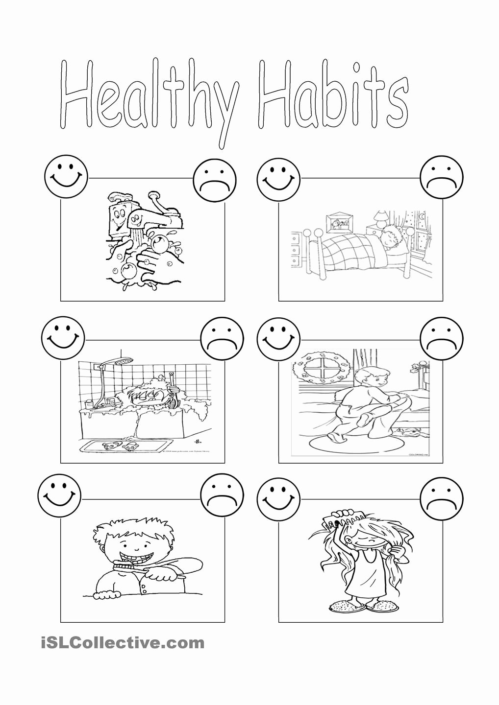 Good Habits Worksheets for Preschoolers top Healthy Habits