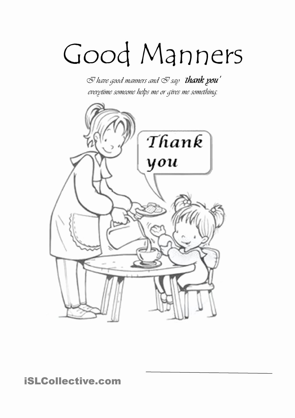 Good Manners Worksheets for Preschoolers Printable Good Manners