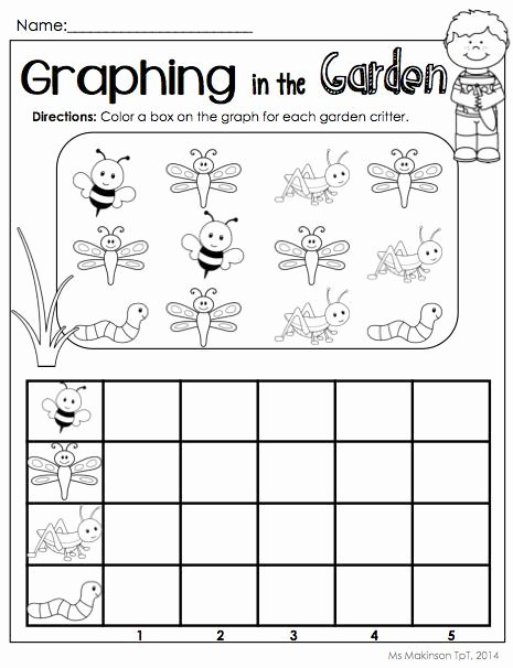 Graph Worksheets for Preschoolers Ideas Bug Graph Worksheet