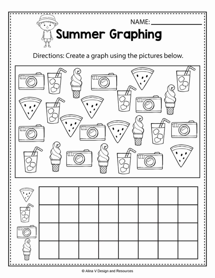 Graph Worksheets for Preschoolers New Summer Graphing Worksheets and Activities for Preschool Math