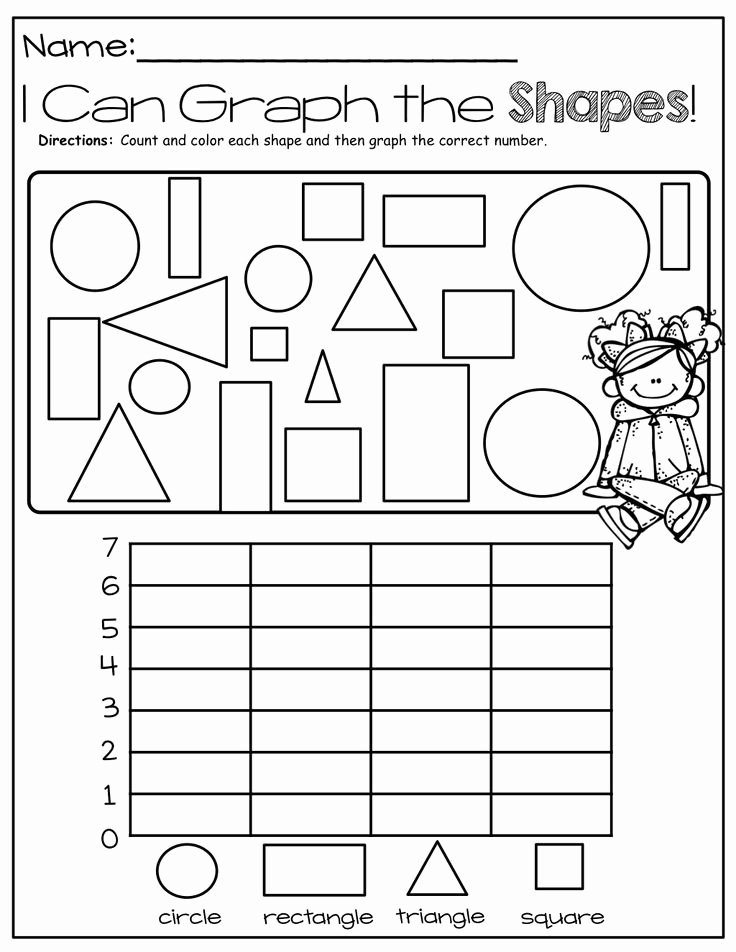 Graphing Worksheets for Preschoolers Printable Shape Graph Worksheet