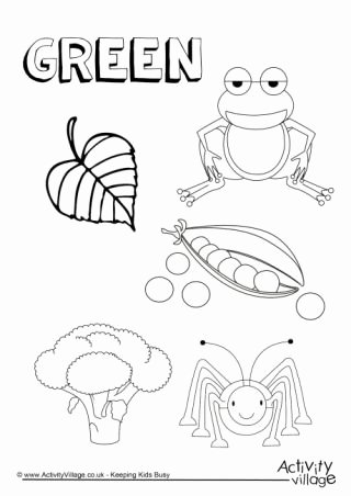 Green Worksheets for Preschoolers Best Of Colour Collection Colouring Pages