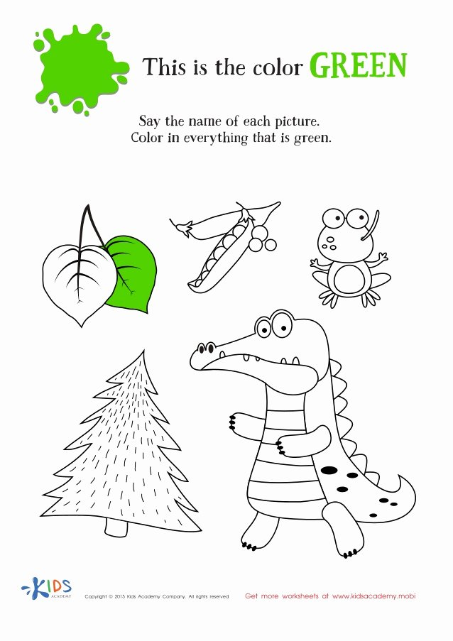 Green Worksheets for Preschoolers Fresh Learning Color Green for toddlers and Preschool
