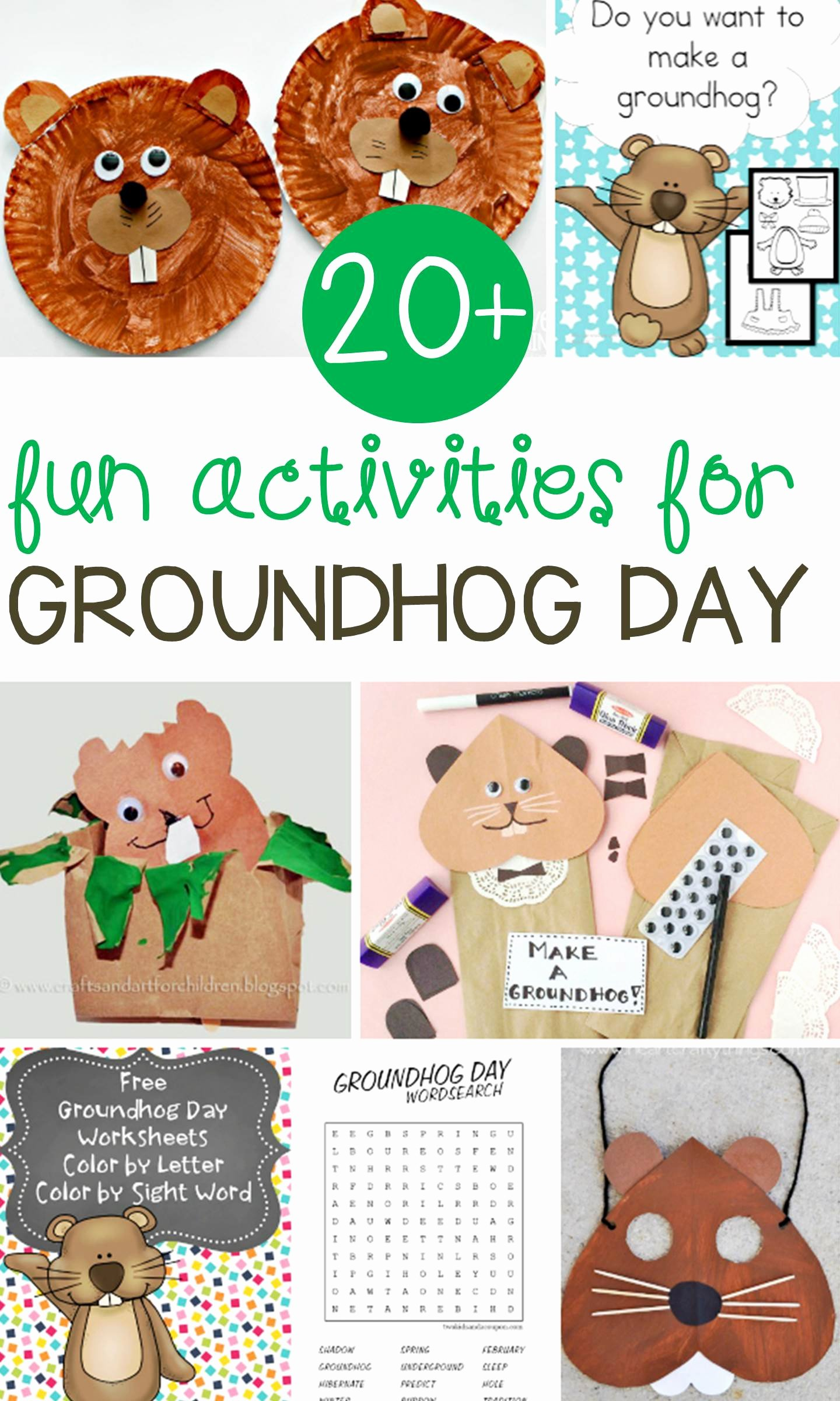 Groundhog Day Worksheets for Preschoolers Free Fun Groundhog Day Activities for Kids Learn & Celebrate