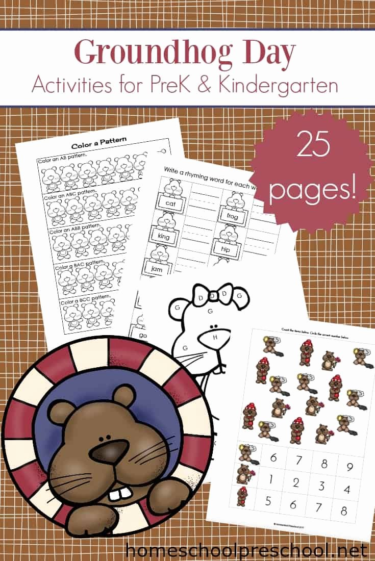 Groundhog Day Worksheets for Preschoolers Fresh Printable Groundhog Day Activities for Preschoolers