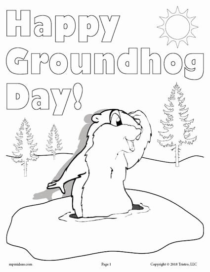 Groundhog Day Worksheets for Preschoolers Fresh Printable Groundhog Day Coloring Page