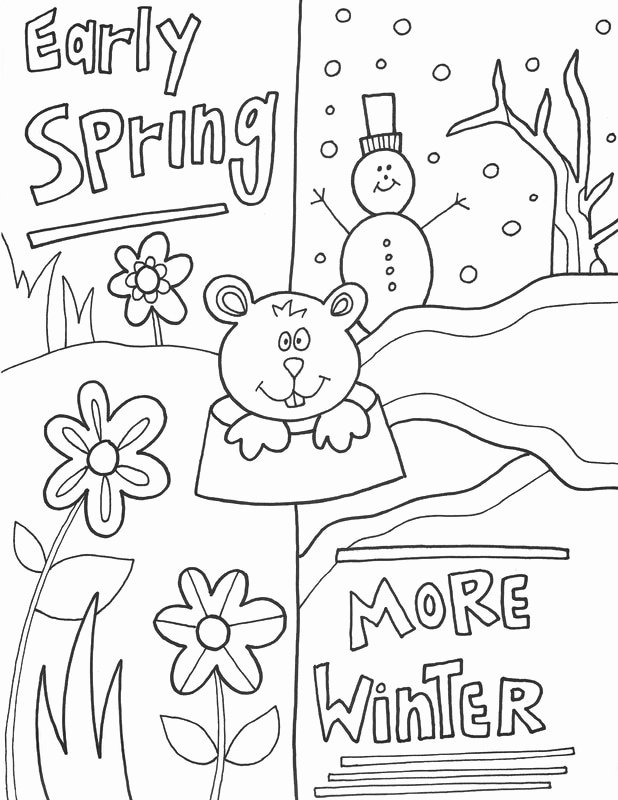 Groundhog Day Worksheets for Preschoolers Inspirational Groundhog Worksheets Best Coloring for Kids Spring Winter