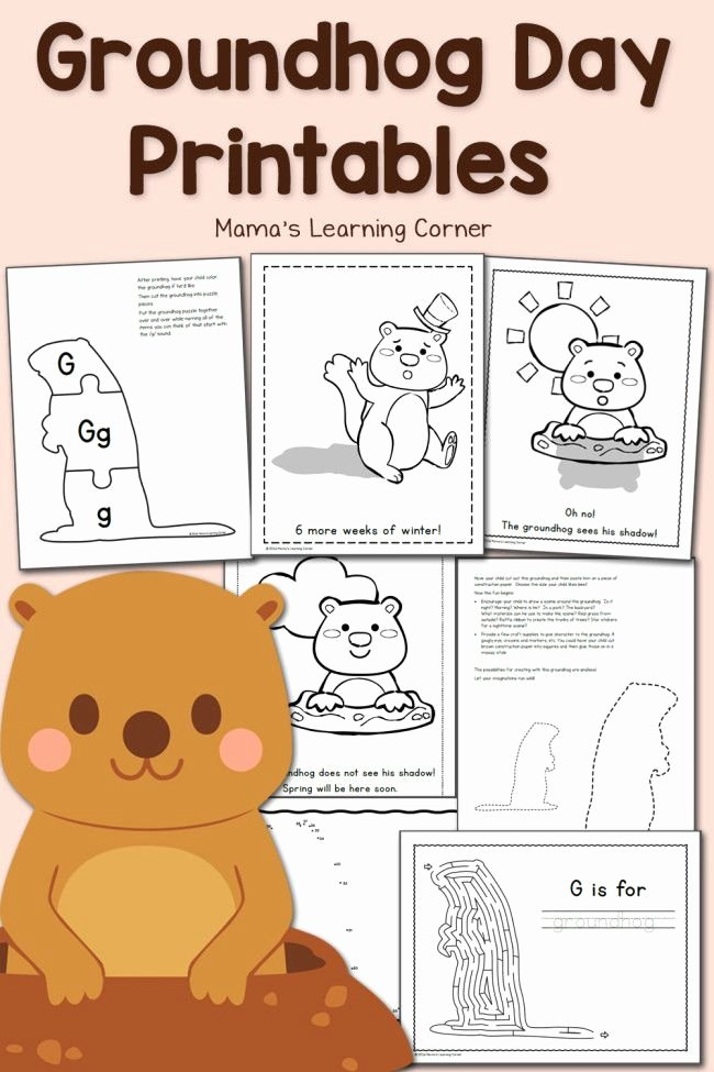 Groundhog Day Worksheets for Preschoolers New Free Groundhog Day Worksheets