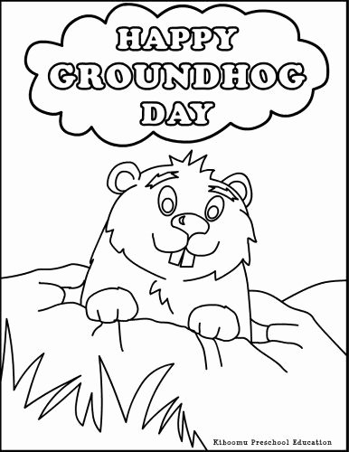 Groundhog Day Worksheets for Preschoolers Printable Need A Coloring Activity for Groundhog Day Try This