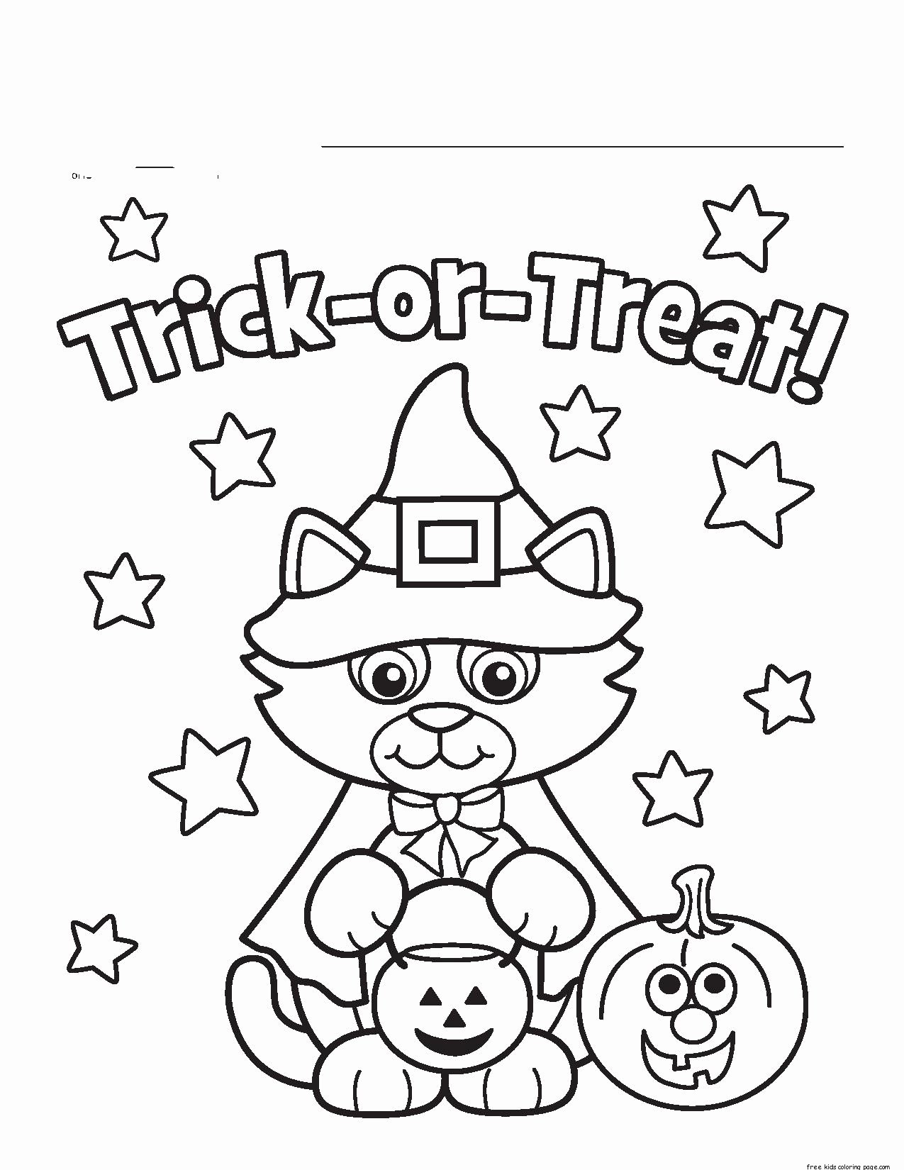 Halloween Coloring Worksheets for Preschoolers Best Of 56 Halloween Coloring Pages for toddlers Inspirations