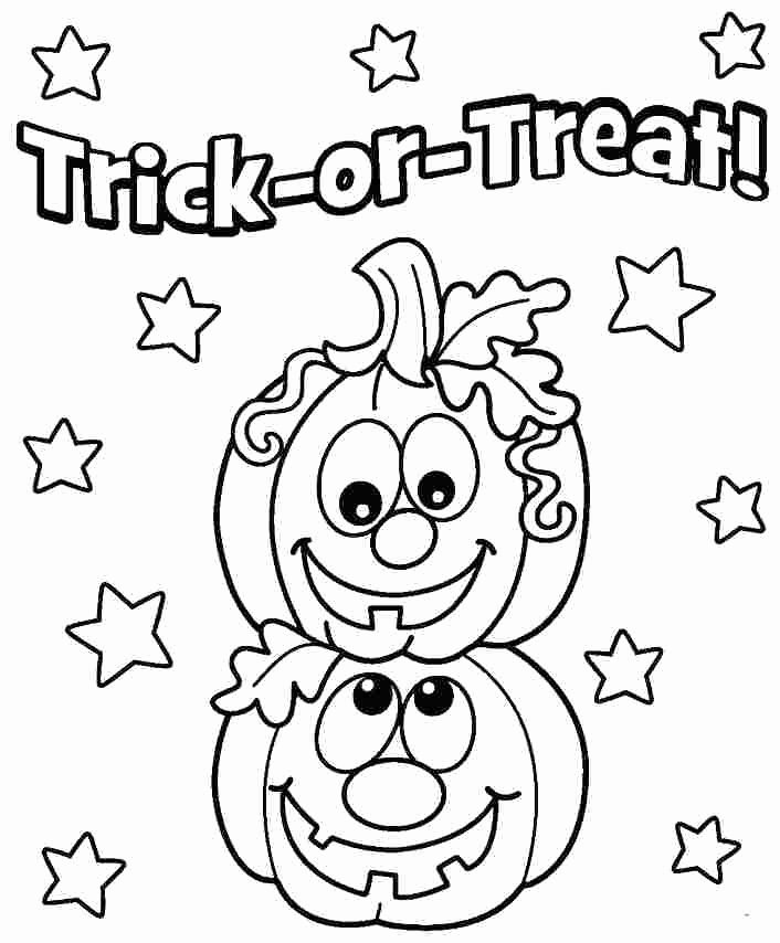 Halloween Coloring Worksheets for Preschoolers Inspirational Smiling Cute Halloween Pumpkins to Color for Preschoolers
